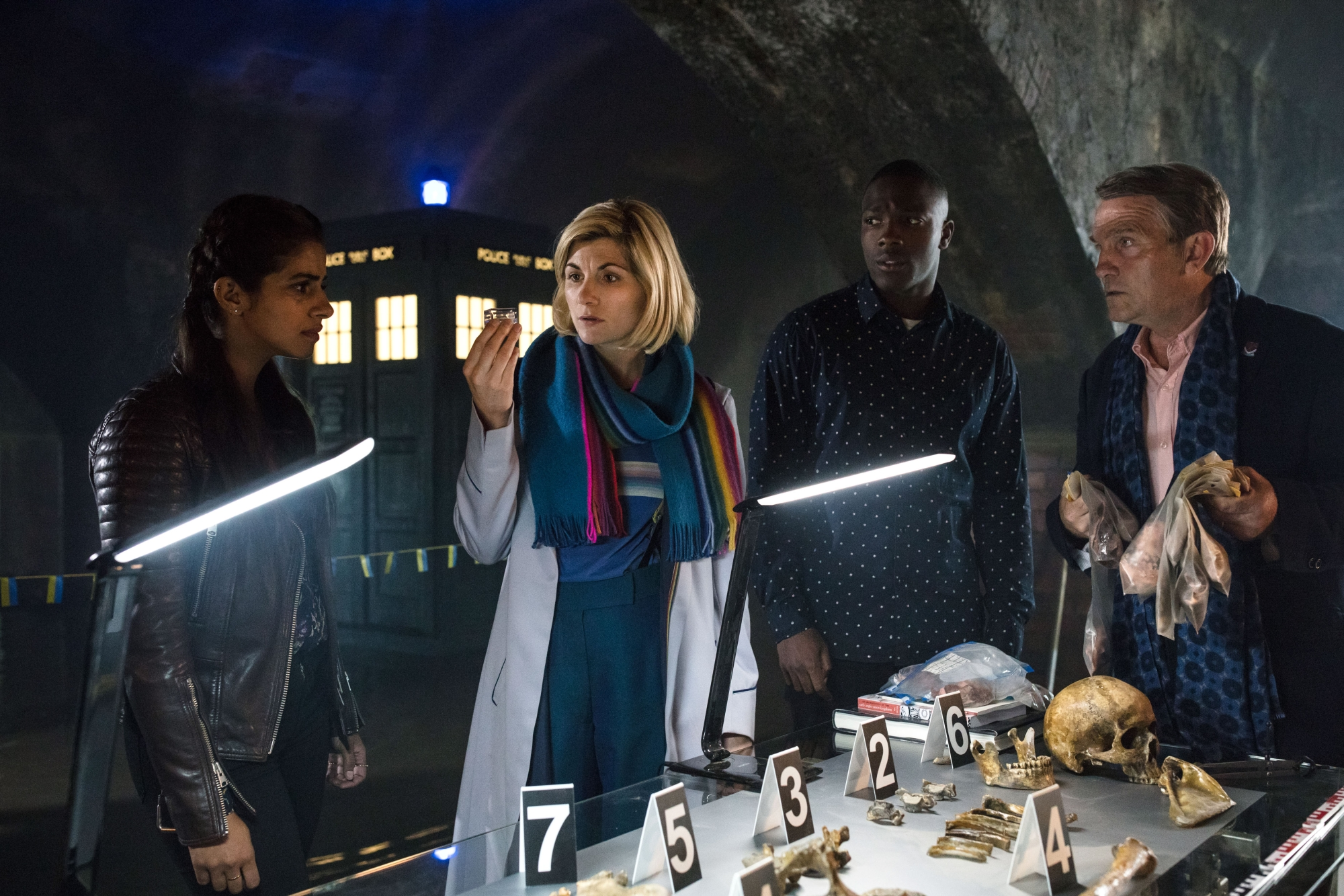 Resolution: The Doctor, Graham, Yaz and Ryan (Credit: BBC/Sophie Mutevelian)