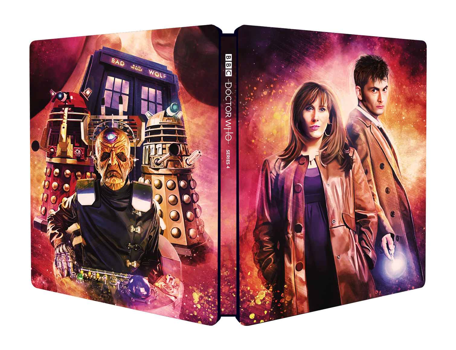 Doctor Who: Series 4 Steelbook (cover) (Credit: BBC Studios)