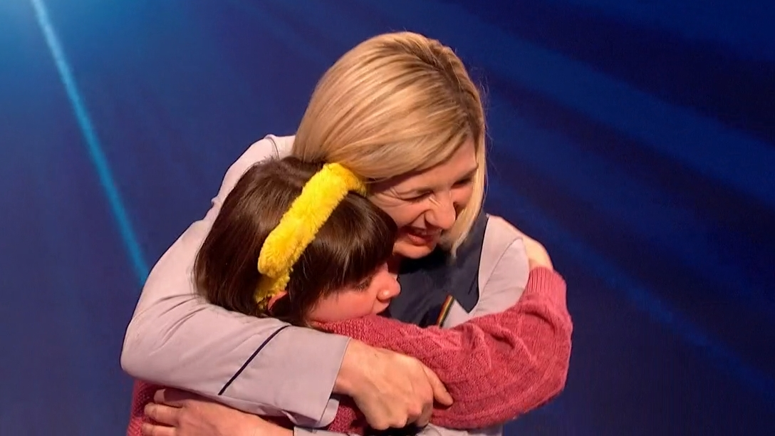 BBC Children in Need 2019 - Anastasia meets Jodie (Credit: BBC)