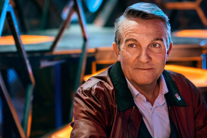 Doctor Who: Spyfall: Graham (Bradley Walsh) (Credit: BBC Studios (Ray Burmiston))