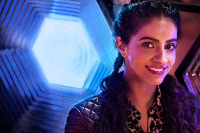 Doctor Who: Spyfall: Yaz (Mandip Gill) (Credit: BBC Studios (Ray Burmiston))