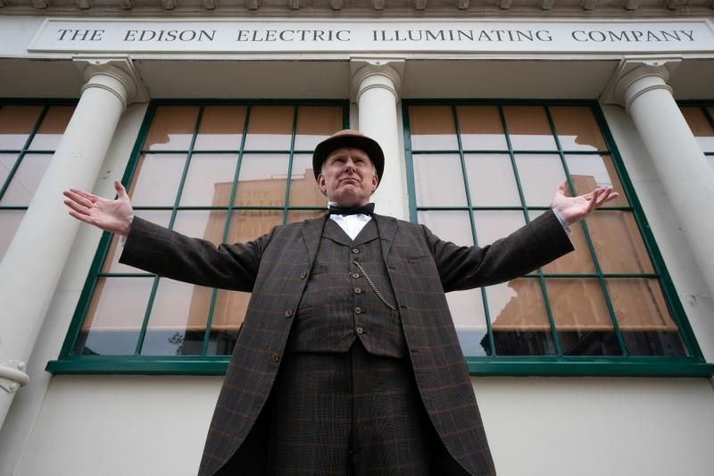 Nikola Tesla's Night of Terror: Thomas Edison (Robert Glenister) (Credit: BBC Studios (Ben Blackall))