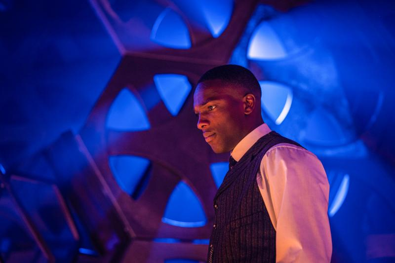 Nikola Tesla's Night of Terror: Ryan (Tosin Cole) (Credit: BBC Studios (Ben Blackall))