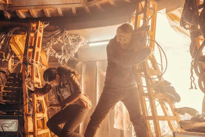 Ascension of the Cybermen: Yaz (Mandip Gill), Graham (Bradley Walsh) (Credit: BBC Studios (James Pardon))