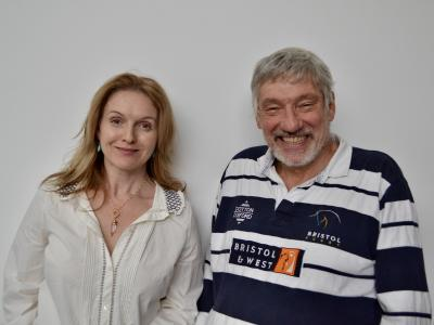 Class: Volumes 3-4: Dervla Kirwan (Miss Quill) and Simon Armstrong (Corporal Blood) (Credit: Big Finish)