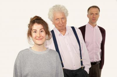 Return Of The Cybermen, with Sadie-Miller, Tom_Baker and Christopher Naylor (Credit: Big Finish)