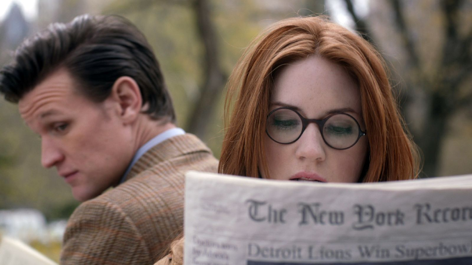The Angels Take Manhattan: The Doctor and Amy in Central Park. Photo: BBC