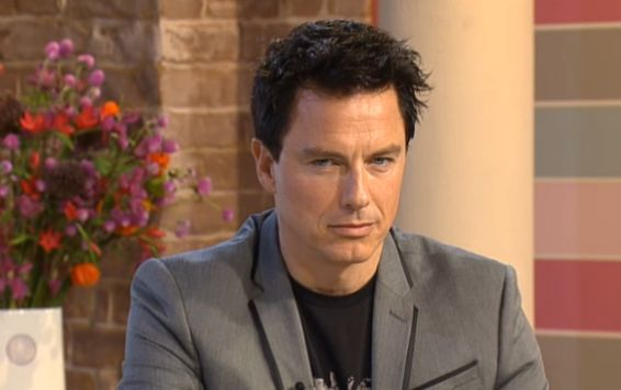 John Barrowman in 'serious Jack' mode on This Morning, ITV1, 17 Sep 2012