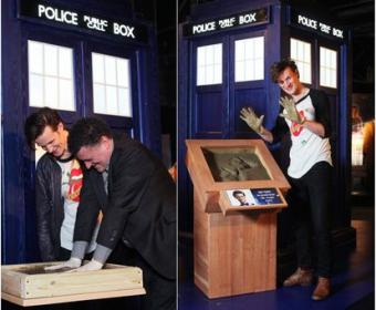 Matt Smith and Steven Moffat at the Doctor Who Experience. Photo: BBC