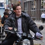 Matt Smith filming in London. Photo: Anne Koerber