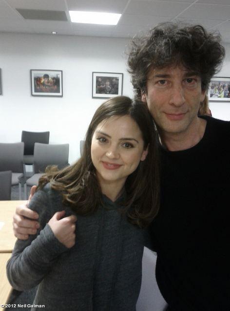 Neil Gaiman with Jenna-Louise Coleman. Photo: Neil Gaiman