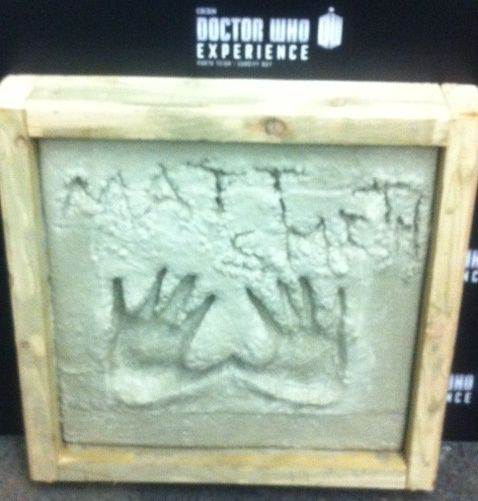 Matt Smith's hand cast, from The Doctor Who Experience. Auctioned for Children in Need 2012