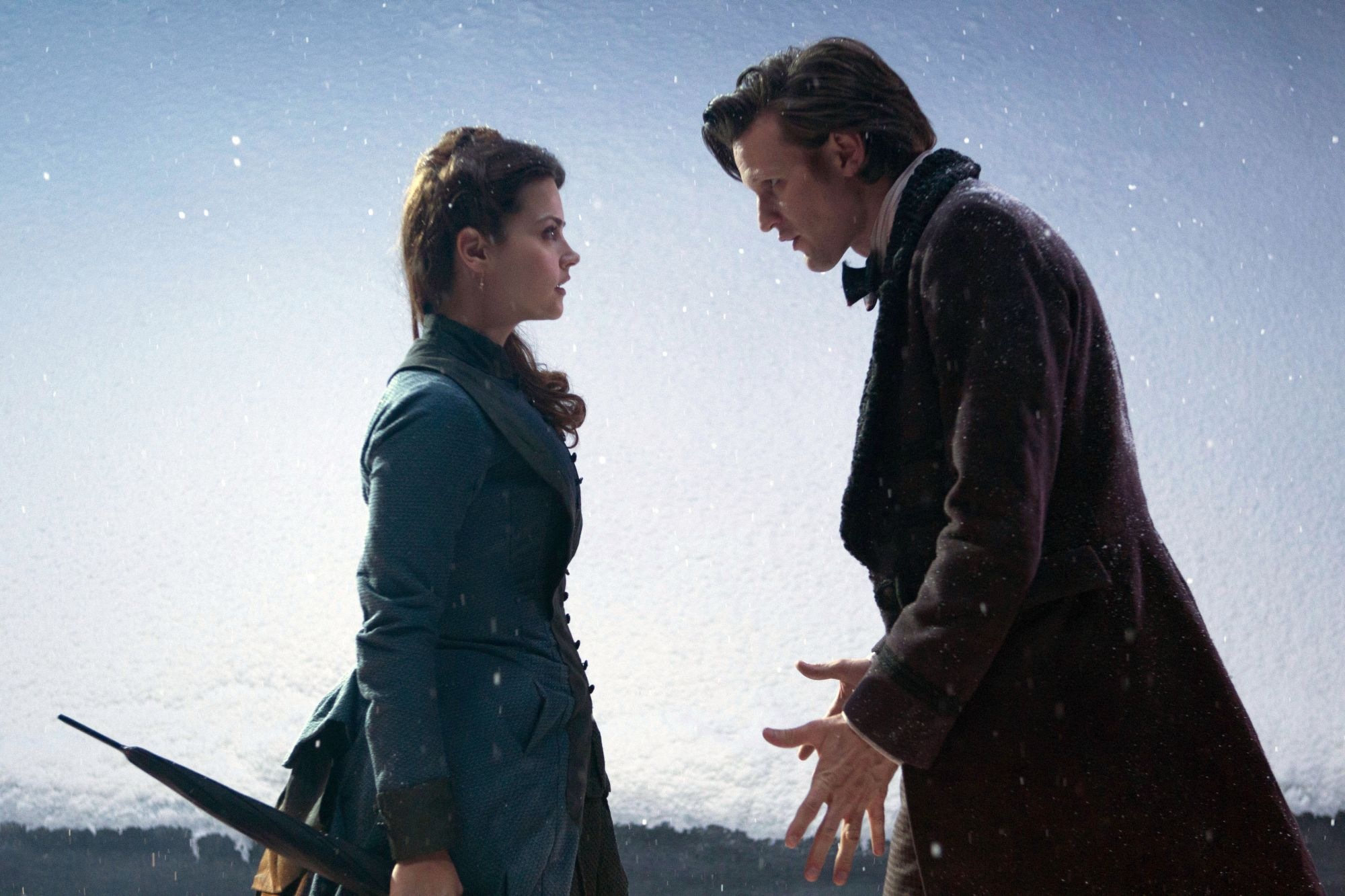 Matt Smith and Jenna-Louise Coleman in the Christmas Special. Photo: BBC