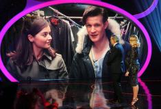 Matt Smith and Jenna-Louse Coleman introduced on Children in Need. Photo: Press Association