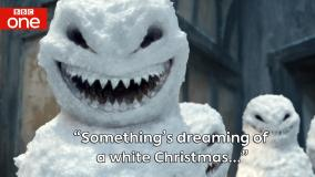 """Something's dreaming of a White Christmas"". Image: BBC"