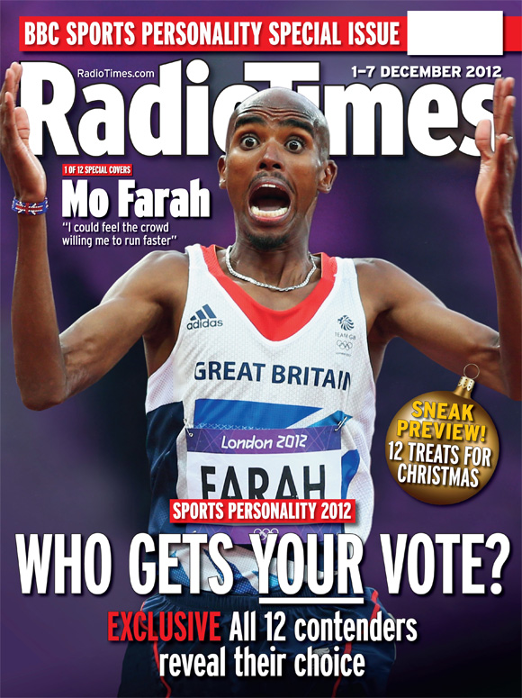 Radio Times (1-7 Dec 2012) - Mo Farah cover