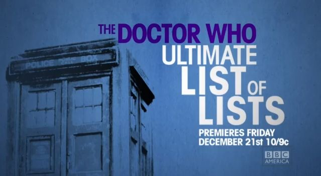 The Doctor Who Ultimate List of Lists
