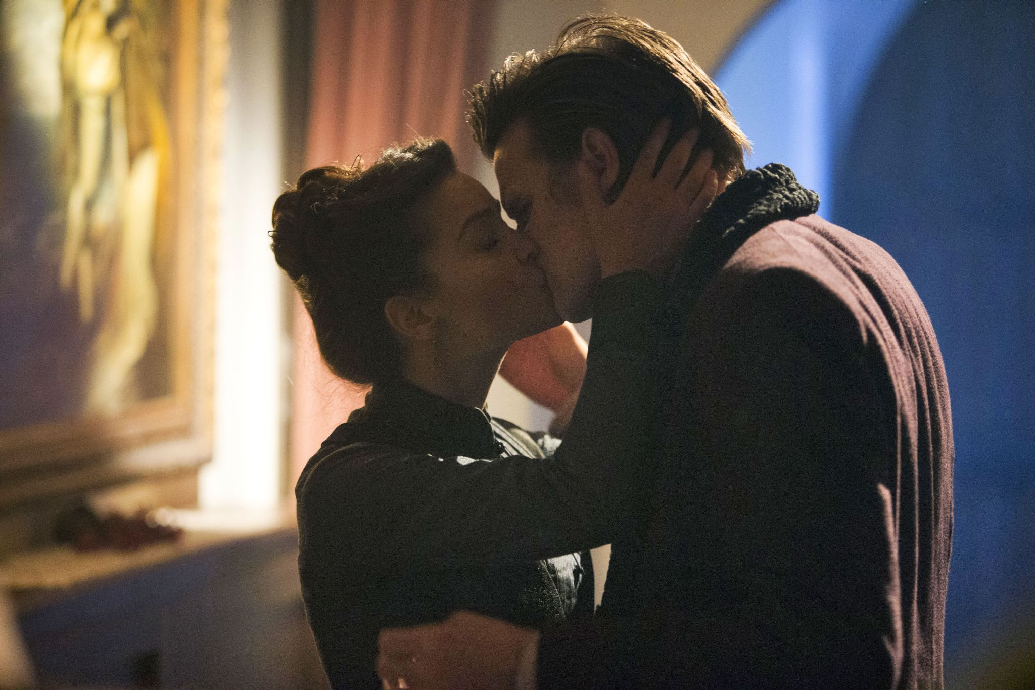 The Doctor (Matt Smith) and Clara (Jenna-Louise Coleman). Photo: BBC