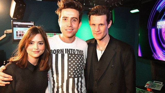 Matt Smith and Jenna-Louise Coleman on The Radio 1 Breakfast Show with Nick Grimshaw, 18 Dec 2012