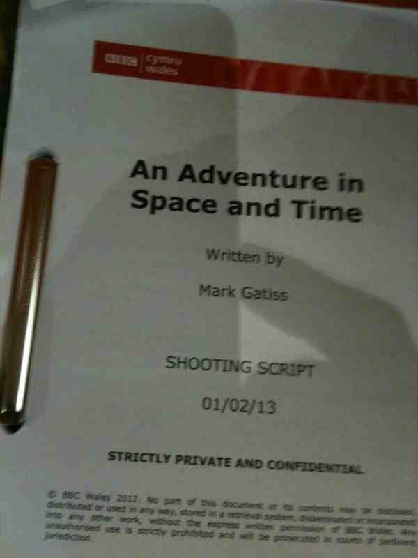 Script Cover. Photo: Mark Gatiss, via Twitter