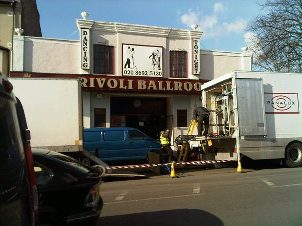 Film crew at the Rivoli Ballroom, Brockley. Photo: Debra Moyce, via Twitter