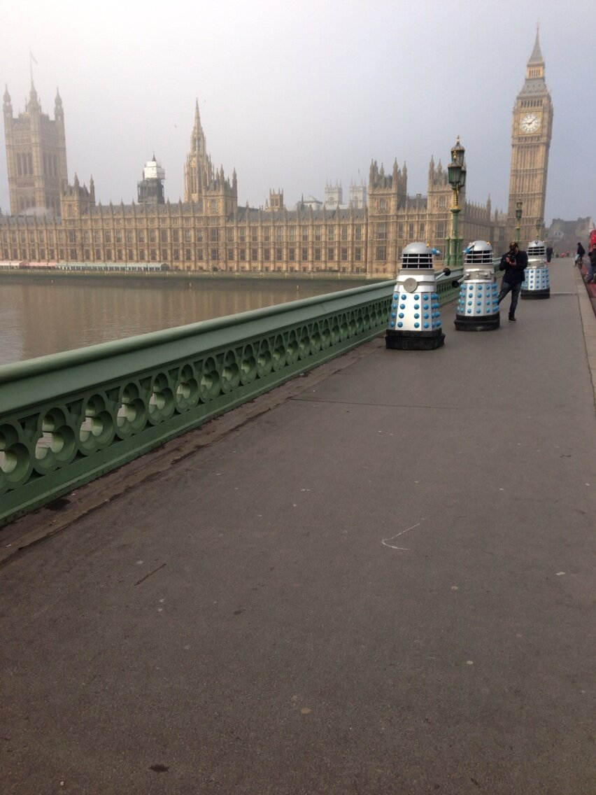 Daleks on Westminster Bridge. Photo: Matt Strevens