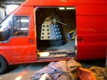 Lone Dalek leaves Television Centre. Photo: Richard Browning