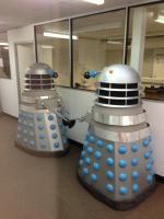 Daleks at Wimbledon Studios (Credit: Matt Strevens, via Twitter)