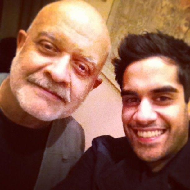 Sacha Dhawan with Waris Hussein (Credit: Sacha Dhawan, via Twitter)