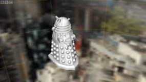Cracking The Code: a visual effect Dalek by The Mill (Credit: BBC)