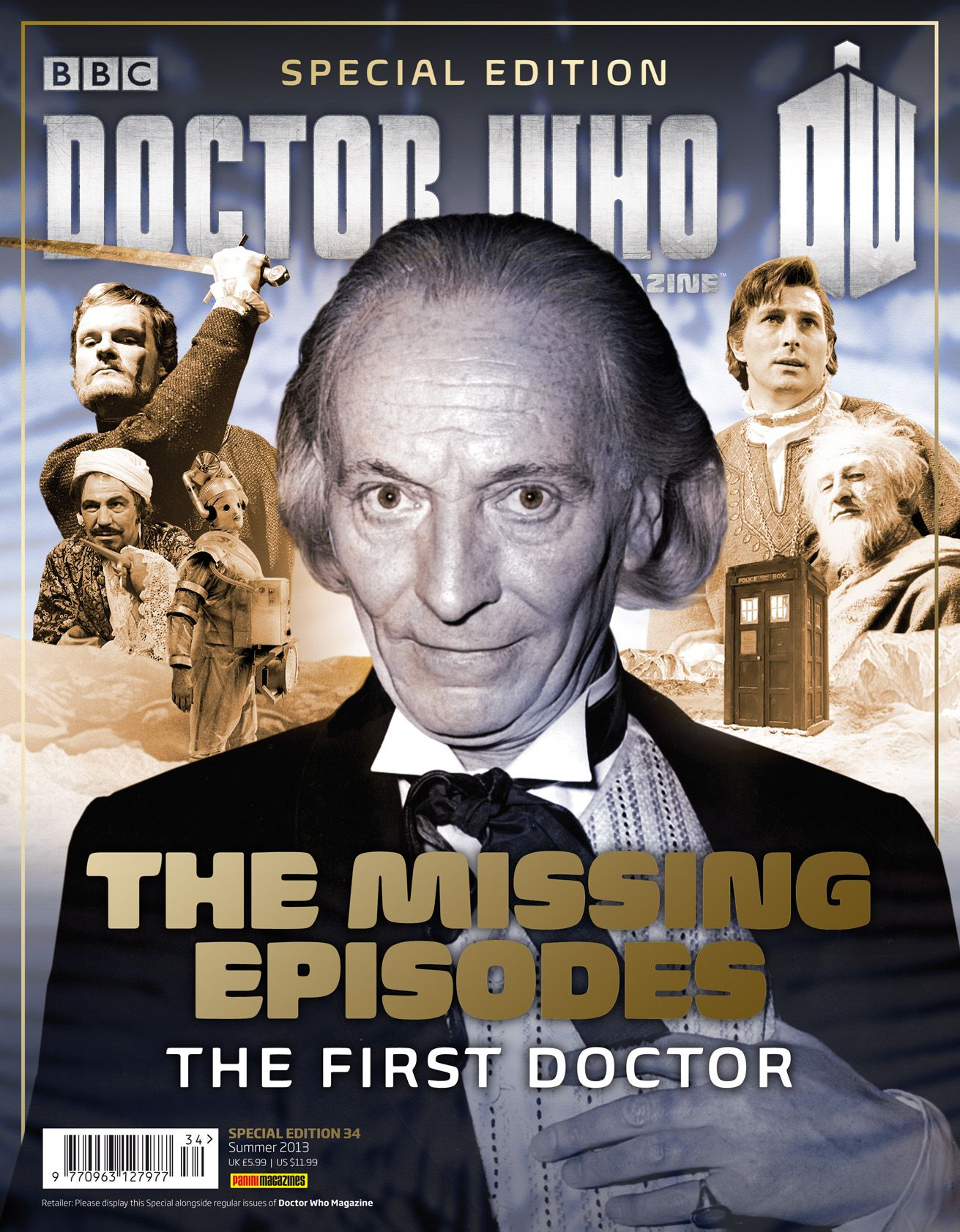 The Missing Episodes: The First Doctor (Credit: Panini)