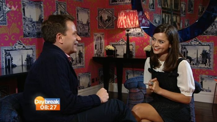 Jenna-Louise Coleman speaking to Richard Arnold, Daybreak 27 Mar 2013 (Credit: ITV)