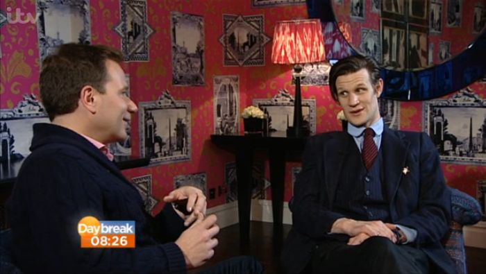 Matt Smith speaking to Richard Arnold, Daybreak 27 Mar 2013 (Credit: ITV)